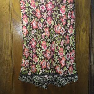 Sigrid Olsen Women's Brown Garden Grace Skirt